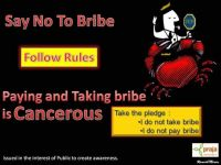 Say No To Bribe - I do not take I do not give