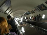 Moscow Metro-escalator