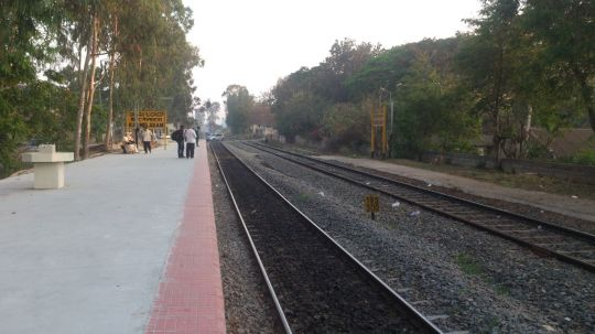 Carmelram Station on 19/03/2015 7am. Platform No 1 has been raised to a higher level.