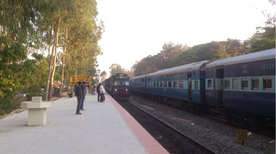 Bangalore-Ernakulam Intercity exp arrives on PF NO 1. Running late by 30mins.